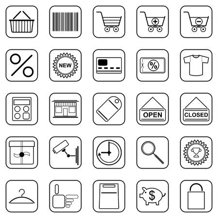 Shopping vector icons Vector