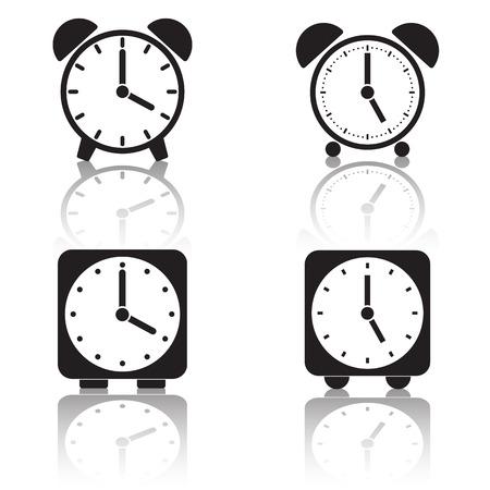Alarm clock vector icons Vector