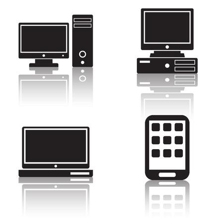 palmtop: Computer vector icons