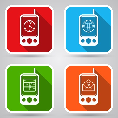 Mobile phone vector icons Vector