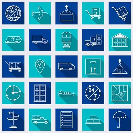 Logistics flat icons Vector