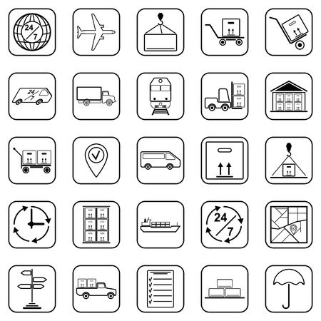 Logistics vector icons Vector