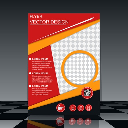 cover design: Business flyer vector template Illustration