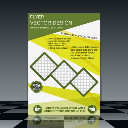 template frame: Business flyer vector template Illustration