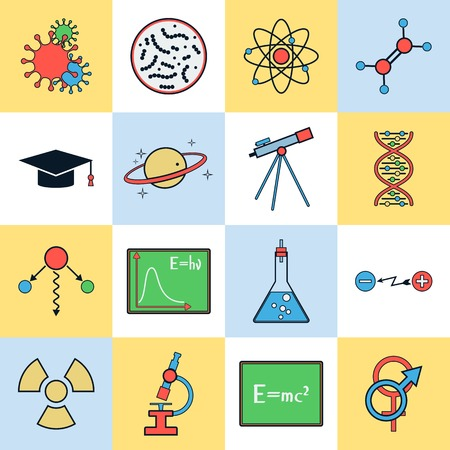 molecular biology: Science vector icons