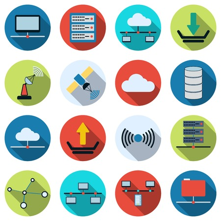 Icônes vectorielles de réseau Banque d'images - 36534219
