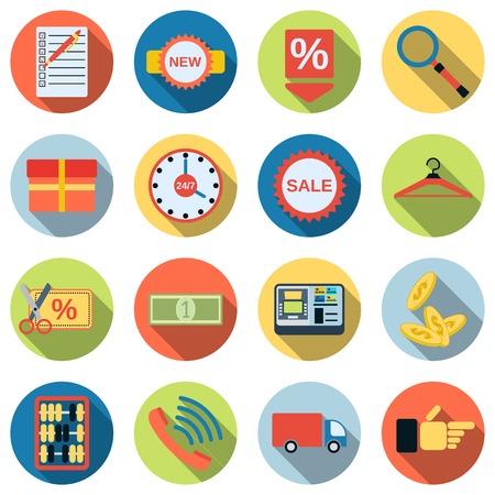 phone money: Shopping vector icons