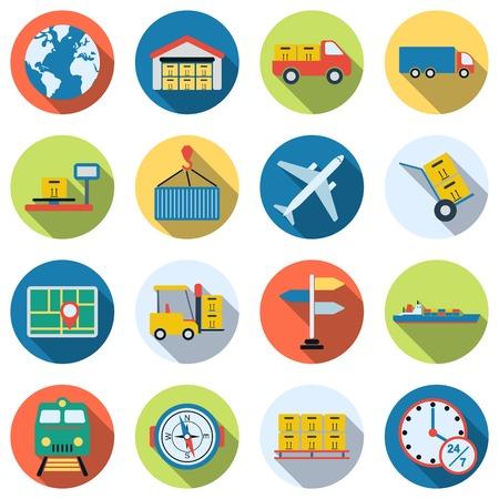 Logistics vector icons
