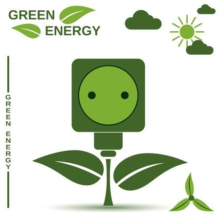 vectorrn: Green energy vector concept Illustration