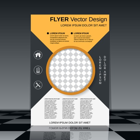 report cover design: Business flyer template Illustration