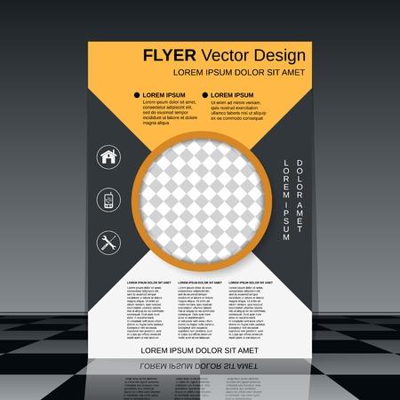 Business flyer template Vektorové ilustrace