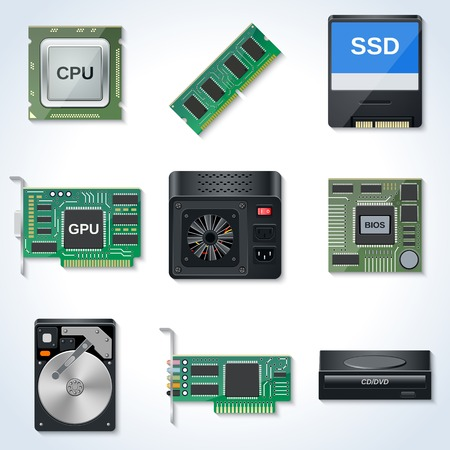 Hardware vector icons