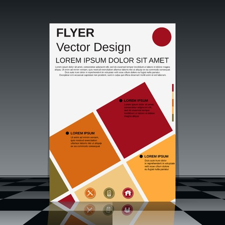 element template: Brochure cover vector template