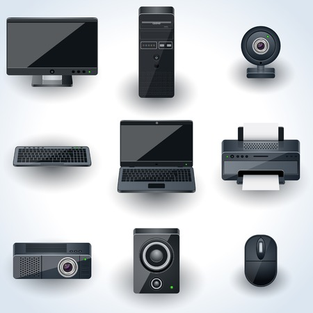 Computers and peripherals vector icon
