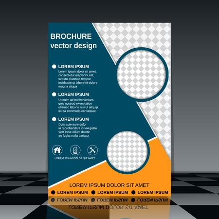 Brochure cover design template Illustration