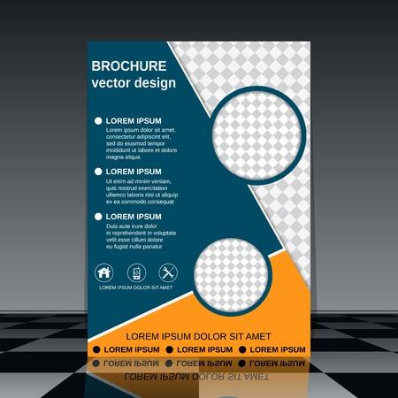 portadas de libros: Cubierta del folleto plantilla de diseño