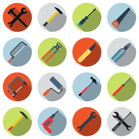Tools vector icons Illustration