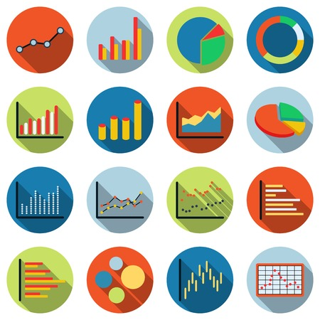 account data: Business and financial statistics vector icons