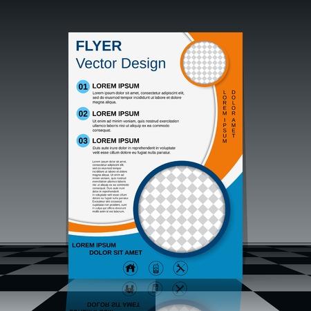Business poster vector design Vectores