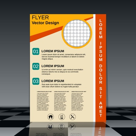 brochure cover design: Brochure cover design template Illustration