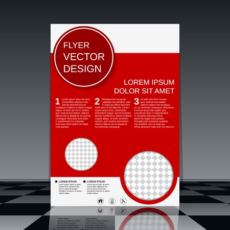 business flyer: Business flyer vector template Illustration