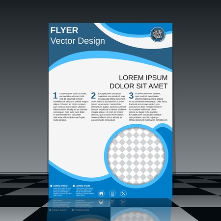 content page: Brochure cover design template Illustration