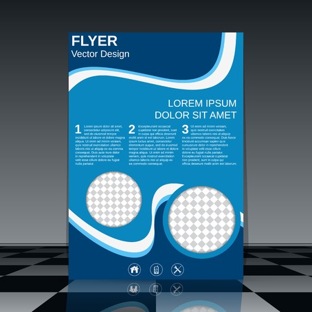 Business flyer vector template Illustration