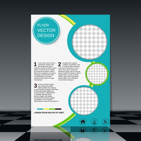 Brochure cover abstract vector design
