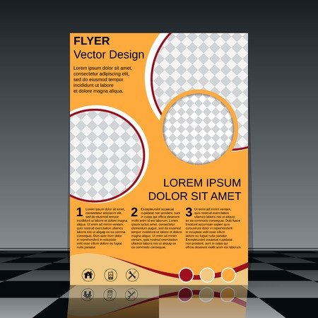 content page: Flyer vector template