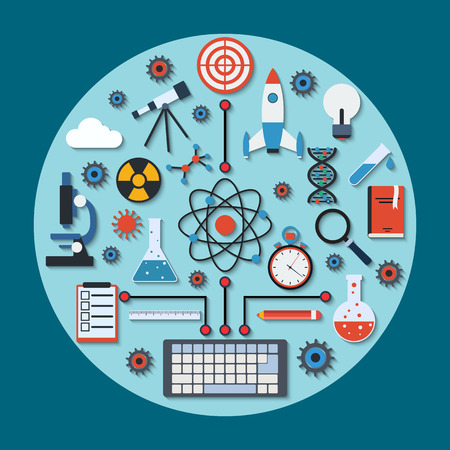 Science research vector concept