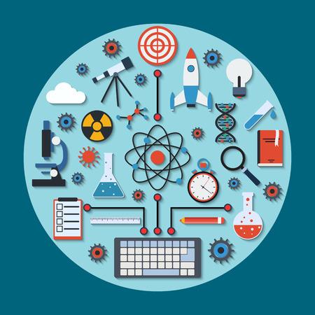 Science research vector concept Vector