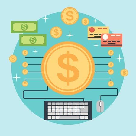 referral: Online banking vector concept Illustration