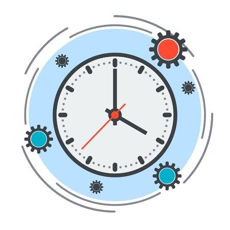 management concept: Concepto de gesti�n del tiempo