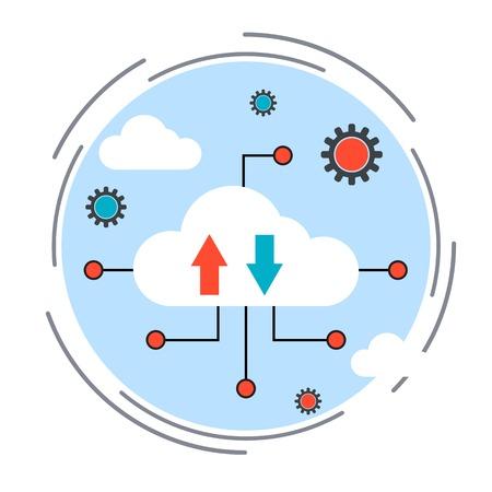 Cloud computing concept Иллюстрация