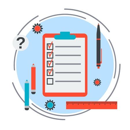 Checklist vectorillustratie