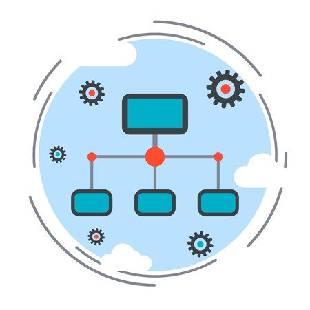 remote: Computer network, cloud computing, remote control concept