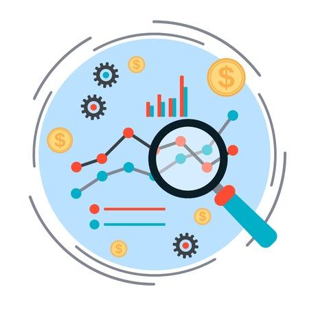 ビジネス グラフ、財務統計、市場分析の概念