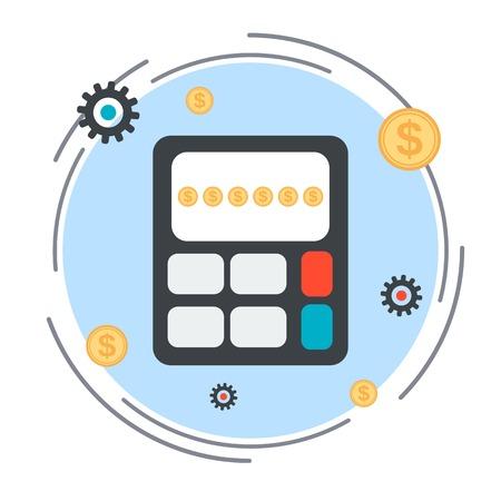 budget: Budget calculation, financial statistics, profit counting vector concept