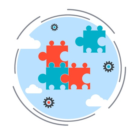 La recherche de solutions, choix concept de stratégie d'entreprise Banque d'images - 42755204