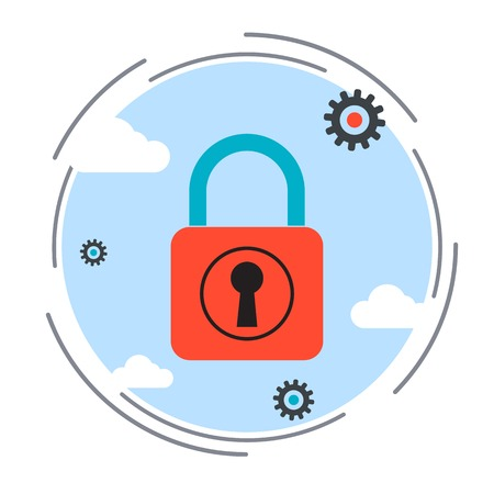 unauthorized: Computer security, data protection, blocking unauthorized access, antivirus, firewall vector illustration