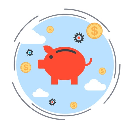 accumulation: Financial savings, deposit, finance accumulation, banking, investment vector concept