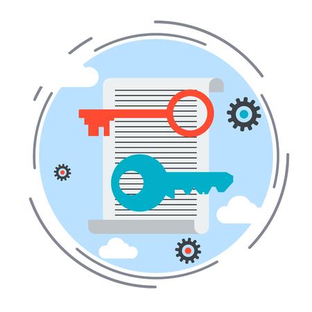 keywording: Keywording tools, web optimization vector concept Illustration