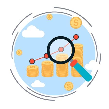 increase business: Financial diagram, business success, profit increase, business statistics vector illustration