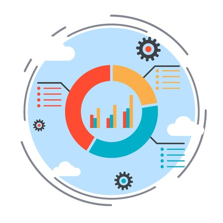 market trends: Business chart, financial statistics, market trends analysis concept