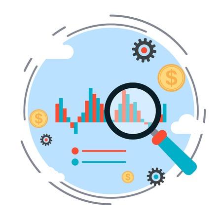 market trends: Financial statistics, market trends analysis, business chart vector concept