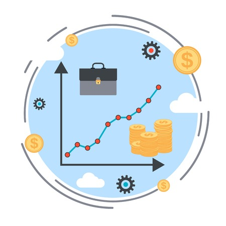 increase business: Financial diagram, business success, profit increase, business statistics vector concept