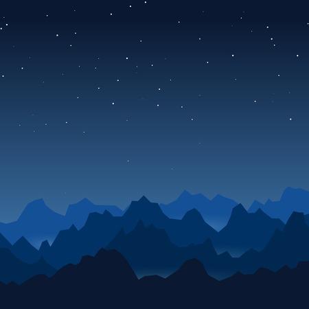Nuit montagnes vecteur fond Banque d'images - 46900434