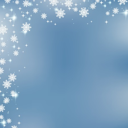 Christmas and New Year blurry vector background