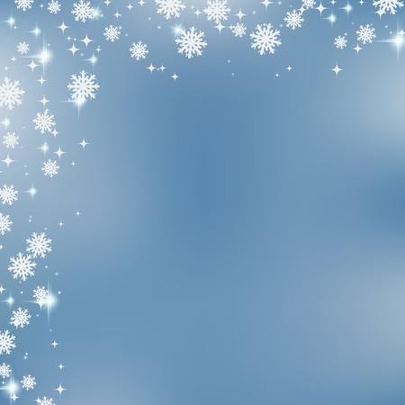 schneeflocke: Weihnachten und Neujahr verschwommen Vektor Hintergrund