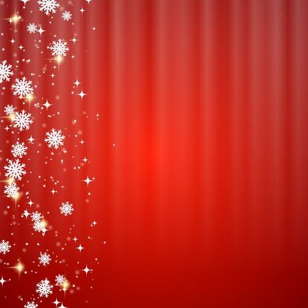 red star: Christmas and New Year blurry red vector background